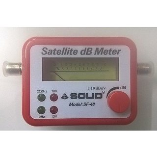 Combo - Satellite Signal Finder DB Meter For All Full-HD Dish T.V Network Setting + 1 Line Tester