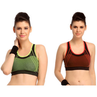 Dealseven Multicolor Plain Sports Bra