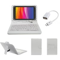 7inch Keyboard For Swipe Halo Value 7 Tablet -  White With OTG Cable By Krishty Enterprises