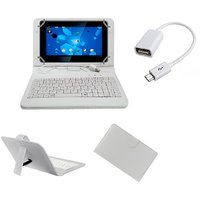 7inch Keyboard For Lava E-tab Z7C+ Tablet- White With OTG Cable By Krishty Enterprises