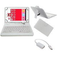 7inch Keyboard For IBall Slide Performance Series 7236  - White With OTG Cable By Krishty Enterprises