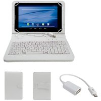 7inch Keyboard For IZOTRON CRO72-04 Mi7 Tablet - White With OTG Cable By Krishty Enterprises