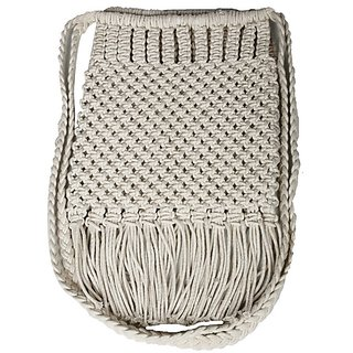 Diwaah Beige Embroidered Casual Sling Bag