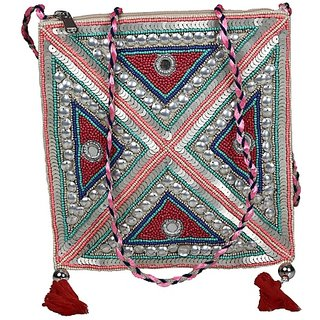 Diwaah Multicolor Embroidered Casual Sling Bag