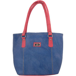 The Blue Pink Multicolor Solid/Plain Casual Handbags