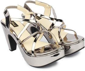 Do Bhai Women's Silver Heels