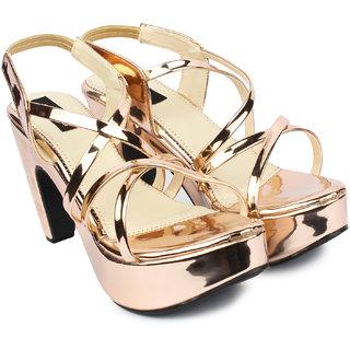 Do Bhai Women's Brown Heels