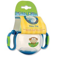 Stephen Joseph Sippy Cup, Monkey Blue/Green