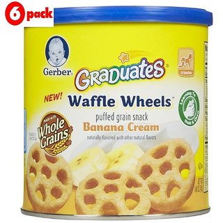 Gerber Graduates Waffle Wheels 42G - Banana Cream (Pack of 6)