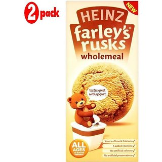 Heinz Farleys Rusks 150G (4-6m+) - Whloemeal (Pack of 2)