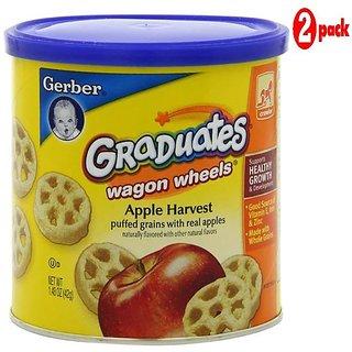 Gerber Graduates Wagon Wheels 42G - Apple Harvest (Pack of 2)