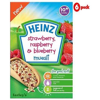 Heinz Strawberry, Rasberry & Blueberry Muesli (10m+) - 200G (Pack of 6)
