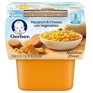 Gerber 2nd Foods 2Pk 226G (8oz) - Macaroni & Cheese With Vegetables (Pack of 3)