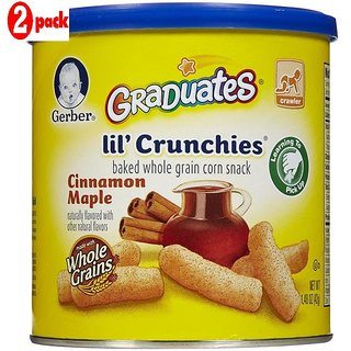 Gerber Graduates Lil' Crunchies 42G (1.48oz) - Cinnamon Maple (Pack of 6)
