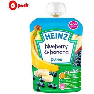 Heinz Blueberry & Banana Puree (4-36m) - 100G (Pack of 6)