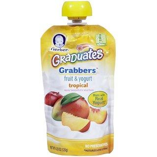 Gerber Graduates GraBBers 120G (4.23oz) - Fruit & Yogurt Tropical