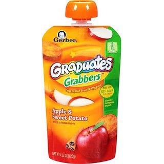 Gerber Graduates GraBBers 120G (4.23oz) - Apple & Sweet Potato