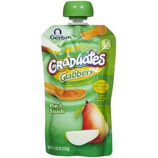 Gerber Graduates GraBBers 120G (4.23oz) - Pear & Squash