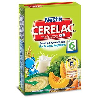 Nestle Cerelac (6m+) - 250G Rice & Mixed Vegetables (Imported)