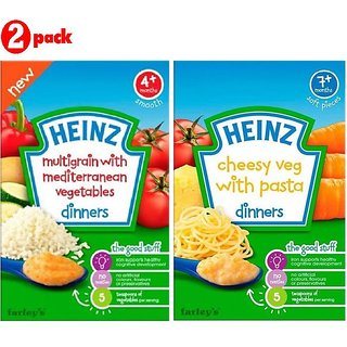 Heinz Cereals Combo (Pack of 2) Multigrain With Mediterranean Vegetables + Cheesy Veg Pasta