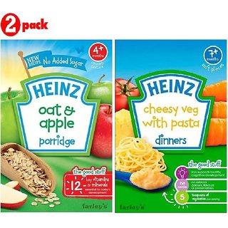 Heinz Cereals Combo (Pack of 2) Oat & Apple Porridge + Cheesy Veg Pasta