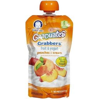 Gerber Graduates GraBBers 120G (4.23oz) - Peaches & Cream