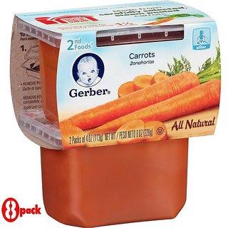 Gerber 2nd Foods 2Pk 226G (8oz) - Carrots (Pack of 8)