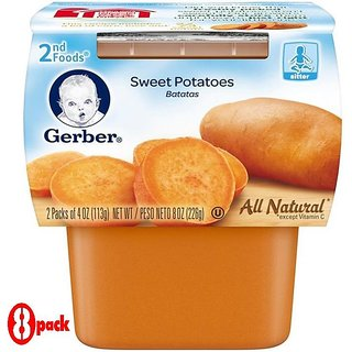 Gerber 2nd Foods 2Pk 226G (8oz) - Sweet Potatoes (Pack of 8)