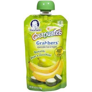 Gerber Graduates GraBBers 120G (4.23oz) - Banana, Pear & Zucchini