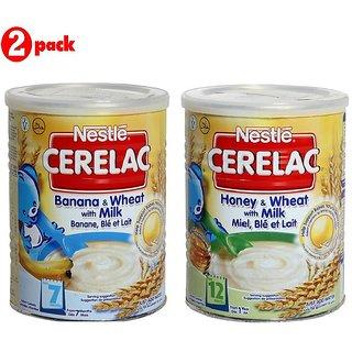 Nestle Cerelac Combo 400G (Pack of 2) Banana & Wheat + Honey & Wheat