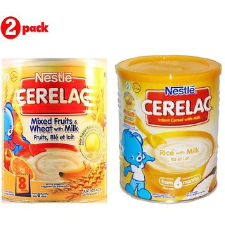 Nestle Cerelac Combo 400G (Pack of 2) Mixed Fruits + Rice with Milk