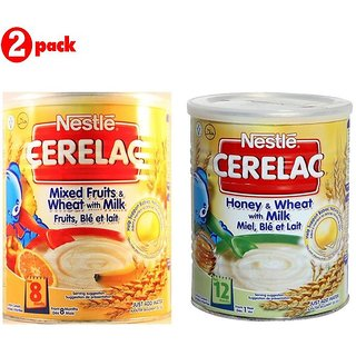 Nestle Cerelac Combo 400G (Pack of 2) Mixed Fruits + Honey & Wheat
