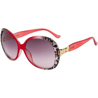 The Blue Pink Black UV Protection Women Oval Sunglass