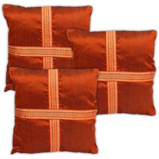 Urban Trendz Dupion Cushion Covers In Set Of 3Pcs Ut20189