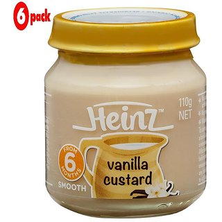 Heinz Vanilla Custard (6m+) - 110G (Pack of 6)