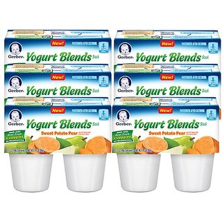 Gerber Yogurt Blends Snack 396G (14oz) - Sweet Potato Pear (Pack of 6)