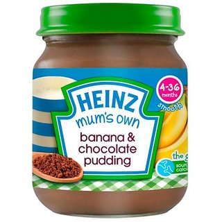 Heinz Mums Own Banana & Chocolate Pudding (4-36m) - 120G