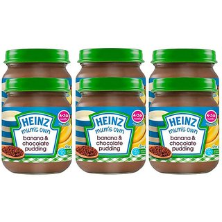 Heinz Mums Own Banana & Chocolate Pudding (4-36m) - 120G (Pack of 6)