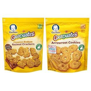 Gerber Graduates Cookies Combo - Arrowroot Cookies + Animal Crackers