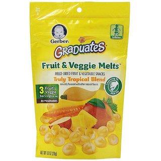 Gerber Graduates Fruit & Veggie Melts 28G - Truly Tropical Blend (Pack of 2)