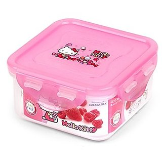 Lock & Lock Hello Kitty Candy Squre Sealing Food Storage Container 420Ml Lkt814