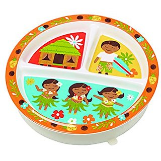Sugarbooger Divided Suction Plate, Aloha Kids