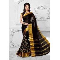 Bhuwal Fashion Cotton Silk Embroidered Saree With Blouse ( Colours Available)