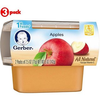 Gerber 1st Foods 2Pk 142G (5oz) - Apples (Pack of 3)