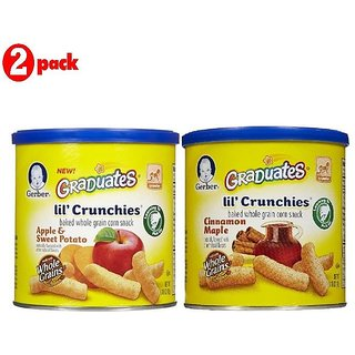 Gerber Graduates Lil' Crunchies Combo 42G (1.48oz) (Pack of 2) - ASP + Cin Maple