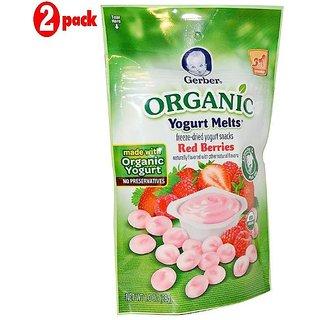 Gerber Organic Yogurt Melts 28G - Red Berries (Pack of 2)