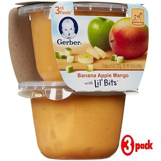 Gerber 3rd Foods 2Pk 284G (10oz) - Banana Apple Mango With Little Bits (Pack of 3)