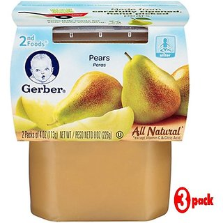 Gerber 2nd Foods 2Pk 226G (8oz) - Pears (Pack of 3)