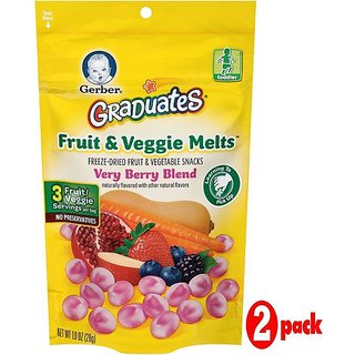 Gerber Graduates Fruit & Veggie Melts 28G - Very Bery Blend (Pack of 2)