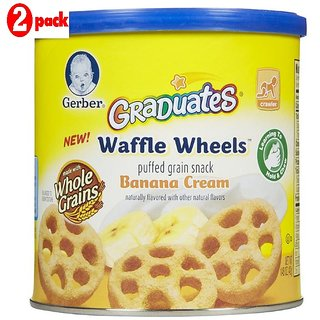 Gerber Graduates Waffle Wheels 42G - Banana Cream (Pack of 2)